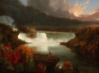 Perfect Oil painting Distant View of Niagara Falls wonderful landscape on canvas