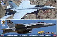 """Hasegawa SP367 F/A-18E Super Hornet & F/A-18C Hornet """"USS Nimitz CVW-11.. 1/72"""