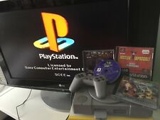 SONY AUDIOPHILE PLAYSTATION 1 PS1 CONSOLE +BITS +MUSIC SOFTWARE & 3 GAMES micro