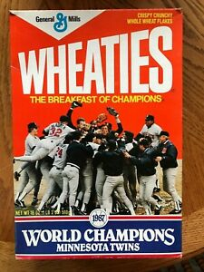 Minnesota Twins WHEATIES 1987 World Series Cereal Box Collectible