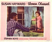 """Susan Hayward Stephen Boyd Woman Obsessed Original 11x14"""" Lobby Card LC83"""