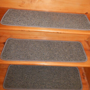 """13 Step 9"""" x 30"""" + Landing 27'' x 30'' Stair Treads Staircase  WOVEN CARPET."""