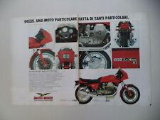 advertising Pubblicità 1983 MOTO GUZZI 850 LE MANS III