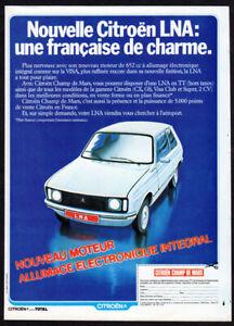 1979 CITROEN LNA Champ de Mars Vintage Original Print AD - White car art France