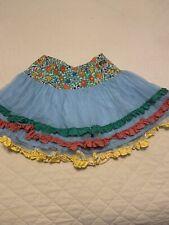 Matilda Jane Field of Flowers Brilliant Daydream Girls Ruffled Skirt Size 14 NWO