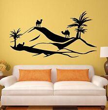 Wall Sticker Vinyl Decal Palm Desert Landscape Camel for Living Room (ig1184)