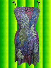 128✪ Indian Gipsy Hippie Midi Kleid dress Paisley 70er Jahre Boho Ethno bunt