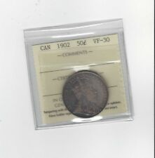**1902**, ICCS Graded Canadian Silver 50 Cent, **VF-30**