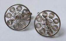 Manschettenknöpfe filigrane Arbeit 835 Silber Vintage 60er cufflinks silver