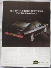 Lotus Excel SE Original advert No.1