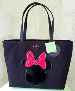 KATE SPADE MINNIE MOUSE FRANCIS TOTE:NWT DISNEY MINNIE MOUSE BLACK W/SILHOUETTE