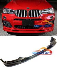3D Style Carbon Fiber Front Lip Spoiler For BMW X4 F26 M- Sport Model 2014U b389