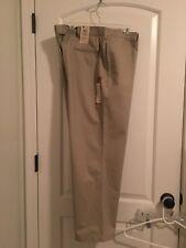 Haggar Men's Casual Chino Pants Sz 42X29 Khaki Comfort Waist Clothes