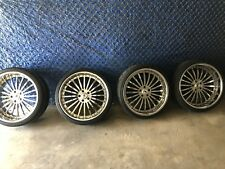"""4 ASANTI 22"""" CHROME STAGGERED RIMS AND TIRES 5 LUG OFF BMW 6 SERIES NYC PICK UP!"""