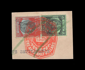 Malaya/Straits Settlements KGVI 50c & $1, fiscally used in Singapore.
