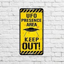 UFO Kids Room Sign Custom Space Alien Aluminum Metal Wall Decor Plaque 11-P