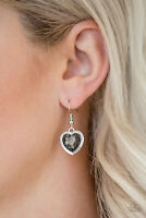 Paparazzi Jewelry Earring ~Real Romance - Silver~Hearts~NWT~1593