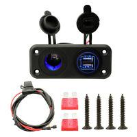 4.8A Presa per caricabatterie doppia USB Presa di corrente per auto impermeabile
