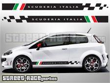 Fiat Punto Côté Racing Stripes 018 Scuderia Italia Autocollant Vinyle Graphique Autocollants