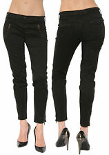 J Brand 962 Agnes Black Zip Pocket Skinny Moto Twill Sateen Jeans Pants 24 00 XS