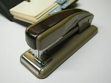 Vintage SWINGLINE 99 Two Tone Brown STAPLER Office Desktop Hand Tool Made NY USA