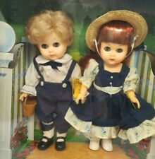 """World of Ginny Vogue Jack and Jill 2 Pack 8"""" Poseable Vinyl Doll Blinking Nrfb"""