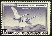 RW17 US Duck Stamp Mint, OG, H  SCV $90