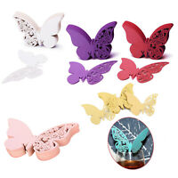 50pcs Wedding Wine Glass Name Place Tags Table Decoration Butterfly Laser Cut
