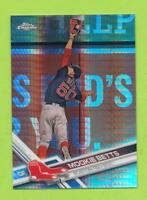 2017 Topps Chrome Prism Refractor - Mookie Betts (#199)  Boston Red Sox