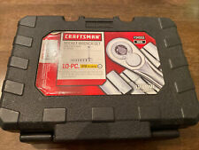 Craftsman 9 Pc. Socket Set, 6 Pt. Metric with Ratchet (34554)