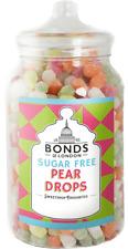 BONDS SUGAR FREE - PEAR DROPS - 2KG JAR, TRADITIONAL BOILED SWEETS, GIFT,XMAS