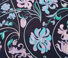 Vintage Emilio Pucci Floral Silk Fabric Remnant