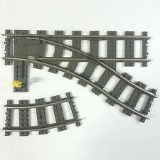 Lego City 9v ferrocarriles derecho suaves altgrau Train track Dark Gray 2859