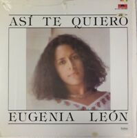 EUGENIA LEON -ASI TE QUIERO- 1983 MEXICAN LP TRANSLUCENT WAX TROVA