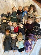 Lot Of 14 Vintage Dolls In Elaborate Handmade Outfits Uneeda Eegee Horsman