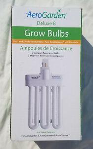 AeroGarden Deluxe B Grow Bulbs (2-Pack) Compact Flourescent 100340 New in Box