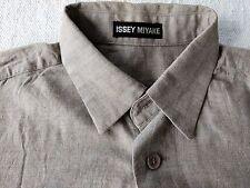 Issey Miyake Japan vintage 90s gray rayon blend shirt medium
