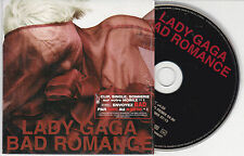 CD CARTONNE CARDSLEEVE 3 TITRES LADY GAGA BAD ROMANCE WITH FRENCH STICKER 2010