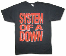System Of A Down-Red Block-Logo-X-Large Black T-shirt