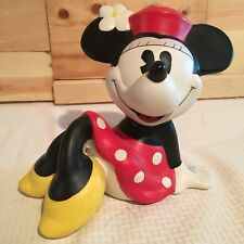 Disney Minnie Mouse Ceramic Piggy Bank By Enesco Flower Sitting Minnie