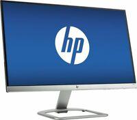 "NEW HP 22ES 21.5"" IPS LED-Backlit LCD Monitor Silver Full HD 1920x1080 VGA HDMI"