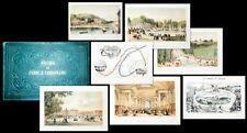 c1850 Chemin de fer Paris Versailles Les trains de plaisir Views + Map 23 Lithos