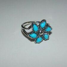 Carolyn Pollack Sleeping Beauty Turquoise Pinwheel Sterling Silver Ring 7