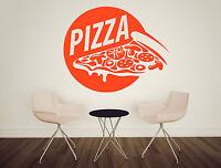 Wall Vinyl Decal Pizza Food Pizzeria Taste Cafe Restaurant Stickers Decor z4734