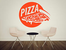 Wall Vinyl Decal Pizza Food Pizzeria Taste Cafe Restaurant Stickers Decor z4734