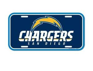 San Diego Chargers License Logo Plate Sign 11 13/16in, NFL Football, New