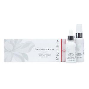 White Lotus Derma Needling Roller 0.5 Hypoallergenic Skin Kit Wrinkles Scarring