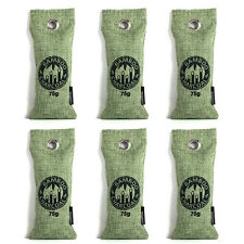 6Pcs Air Purifying Bag Bamboo Charcoal Bag Air Freshener Odor Deodorizer 75g