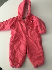 Oilily Baby Infant Girls Pink Snow Suit Gear Size 68/ 3-6 Months Floral Embroid