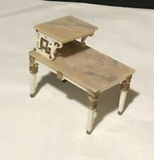 Vtg 1960's IDEAL Petite Princess Doll House Living Room MARBLE Side Table Toy